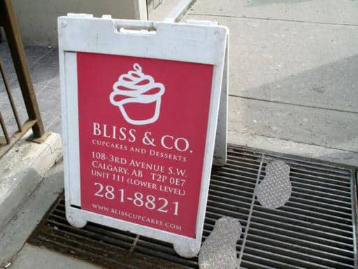 Bliss & Co. signage outside the store
