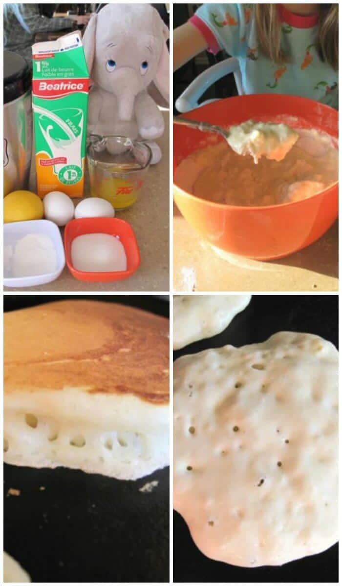 step by step method in making Buttermilk Pancakes