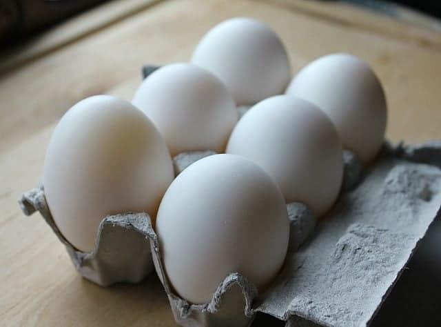 Duck Eggs in a carton