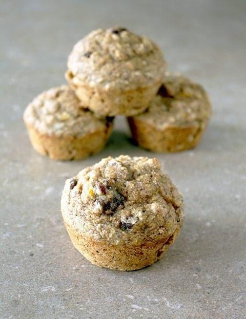 4 pieces Oatmeal Flax Pumpkin Muffins