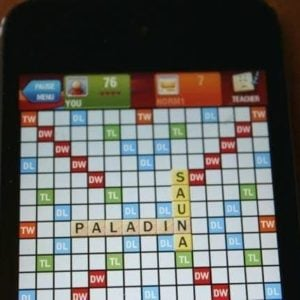 Scrabble on mobile phone
