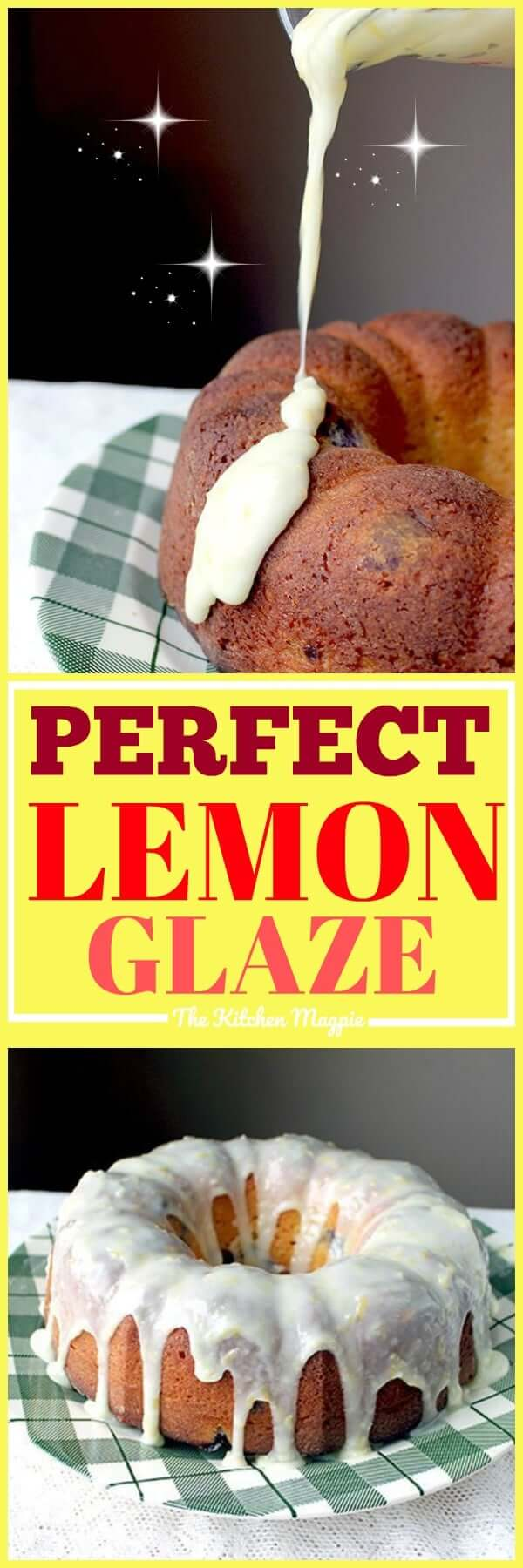 Lemon Icing Glaze is very easy to make and consists of four simple ingredients. Read to find out how to make this great, simple lemon glaze that will be amazing on your cakes, cupcakes and more! #dessert #lemon #icing #frosting #recipe #glaze