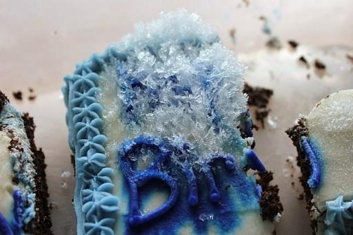 frozen left over blue cake