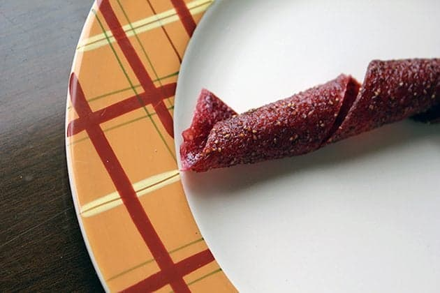 Rhubarb Strawberry Fruit Leather