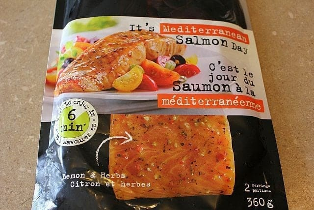 A pack of Mediterranean Salmon made by Marina Del Rey