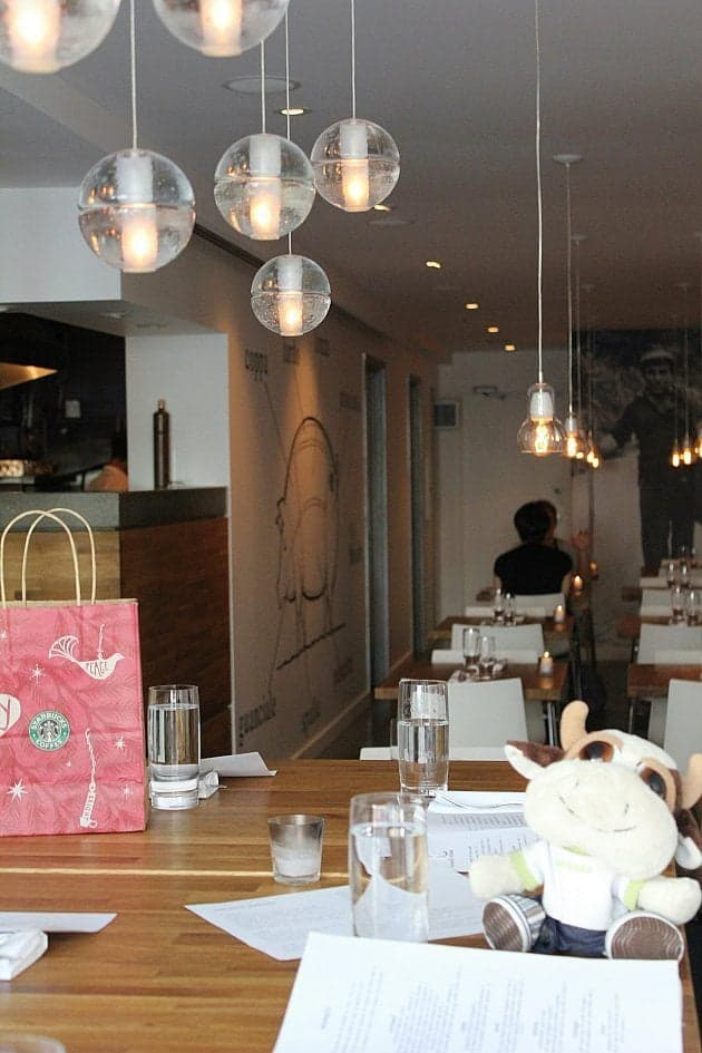 the very limited seating available inside the Corso 32 restaurant