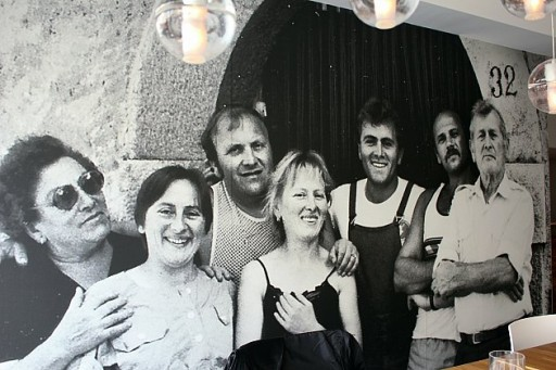 a black and white group photo