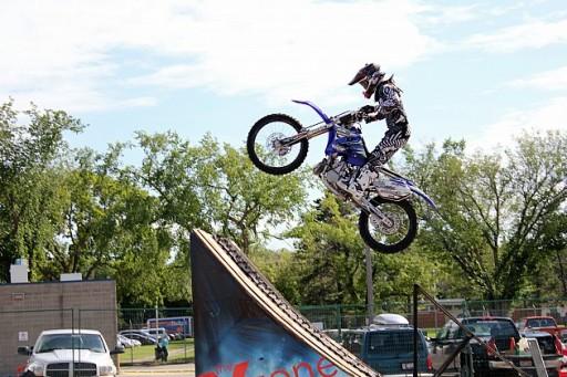 Motorbike Jump Ramp Exhibition