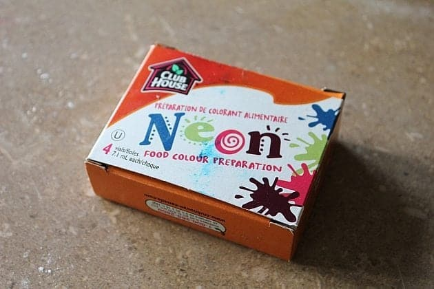a box of Neon Food coloring pack