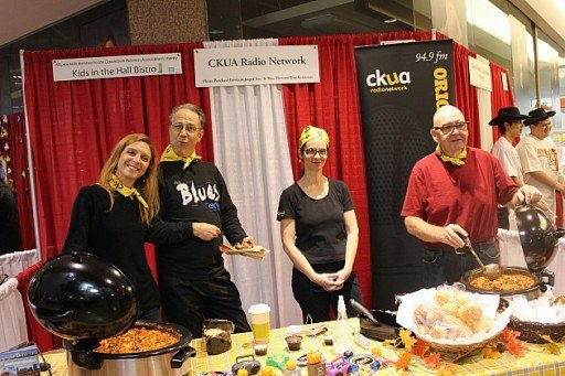 group of for from the CKUA Radio team