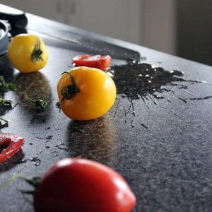 fresh tomatoes in the table
