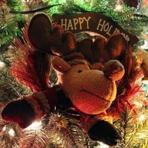 Christmas reindeer on the Christmas decor
