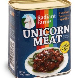 Radiant Farms brand of canned unicorn meat