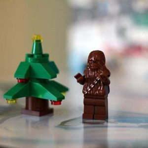 Brown and Christmas tree lego