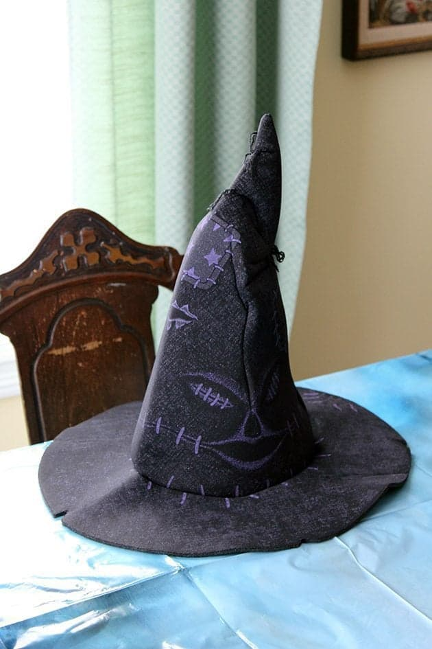 harry potter sorting hat on top of a table