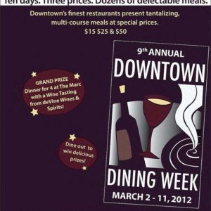 Downtown Dining Week 2012 Details