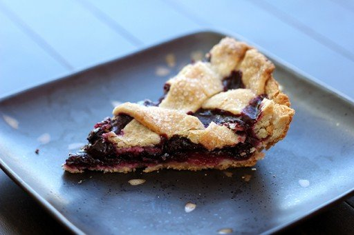 slice of Blueberry lemon pie
