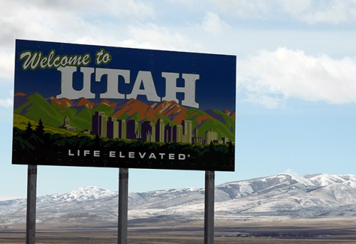Welcome to Utah road signage