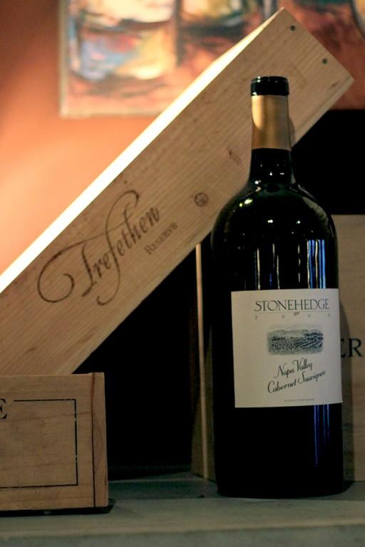 of bottle of Stonehedge brand wine