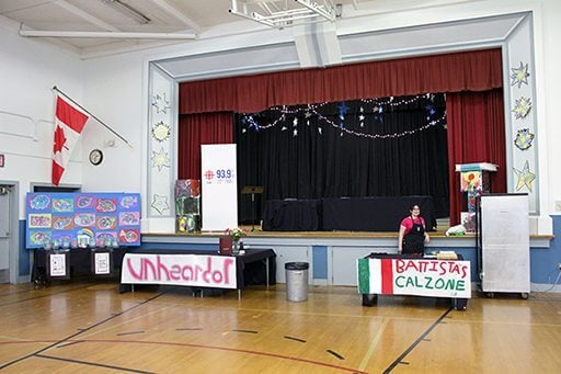 the gym prepared for the cook off event