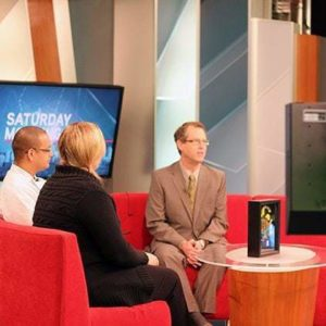 quick interview on Global Television set