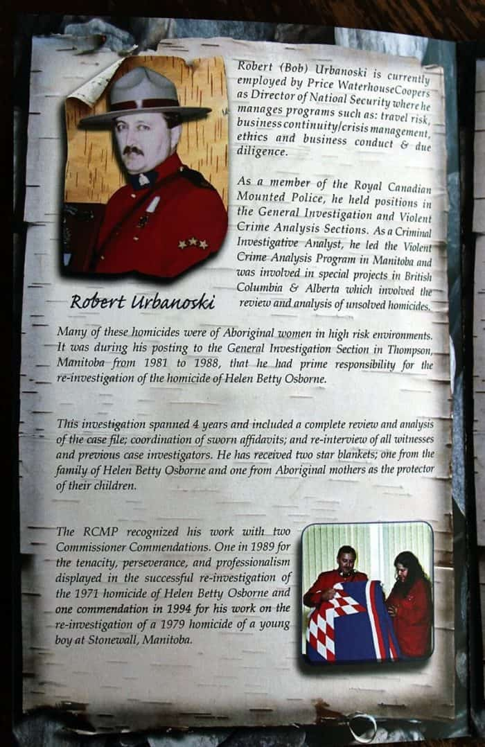 A man in RCMP uniform on his picture