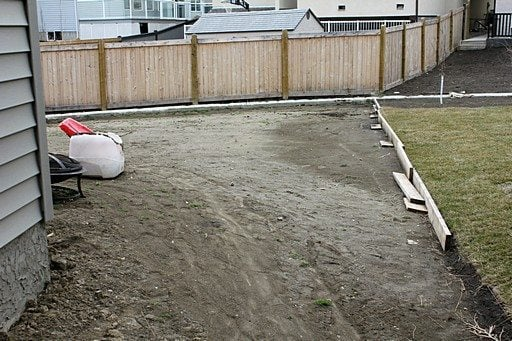 vacant space in the backyard facing east