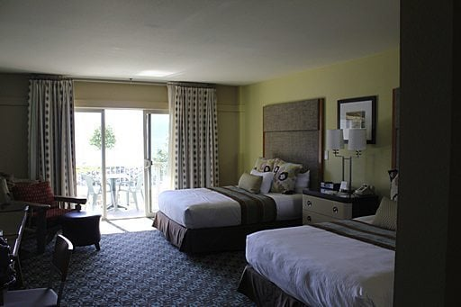 Big Room at Campbell's Resort with Two Large Beds
