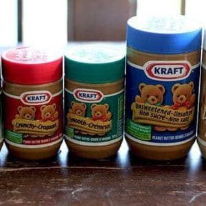 Variety of Kraft Peanut Butter in Jars