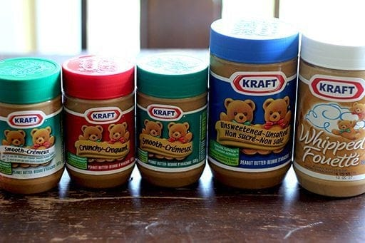 Variety of Kraft Peanut Butter in Jars