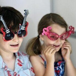 two kids wearing cute kiddie eyewear