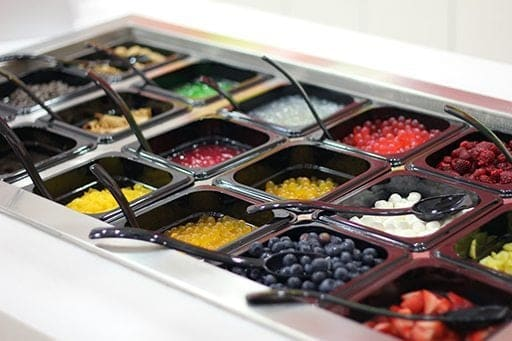 self serve toppings for frozen yogurts