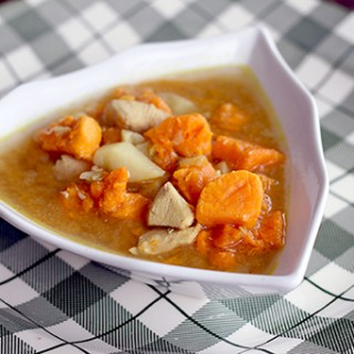 Curried Sweet Potato Soup With Chicken