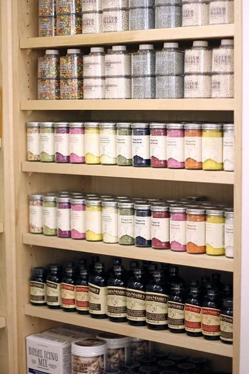 wall of natural dye sprinkles
