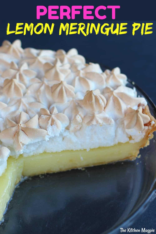 Lemon meringue pie recipe using real lemons for a zesty, tangy strong lemon flavor! #lemon #meringue #pie #dessert