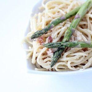 Cheesy Bacon & Asparagus Pasta