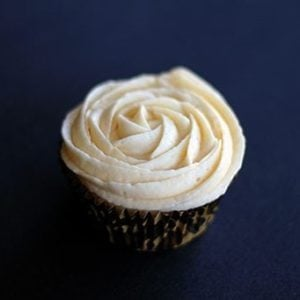 cupcake with Buttercream Icing on top