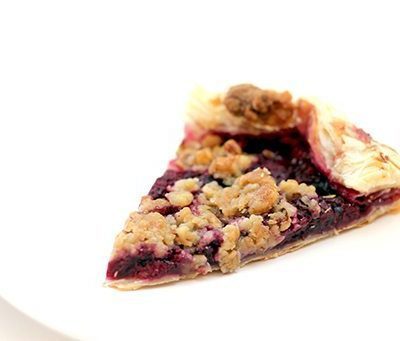 Raspberry Galette with Walnut Struesel Topping