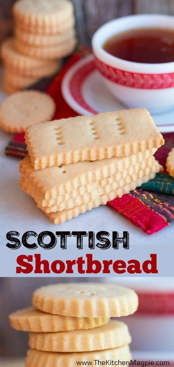 How to make classic rich, silky and buttery Scottish shortbread which is traditionally cut into serrated edged circle and rectangular shapes. #shortbread #cookies #scottish