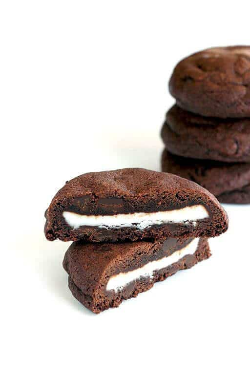 Double Mint Stuffed Chocolate Chip Cookies