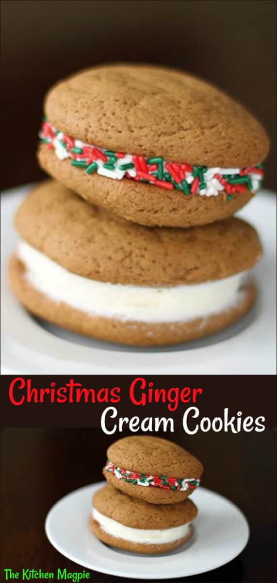 Ginger Cream Christmas Cookies