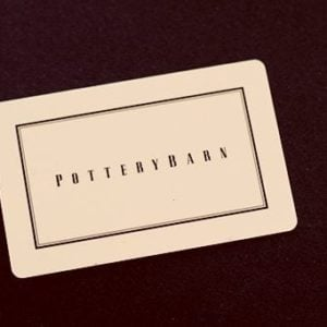 a pottery barn gift card