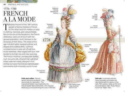 screenshot of photo showing the details of French fashion
