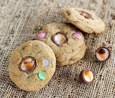 Leftover Easter Candy Cookies