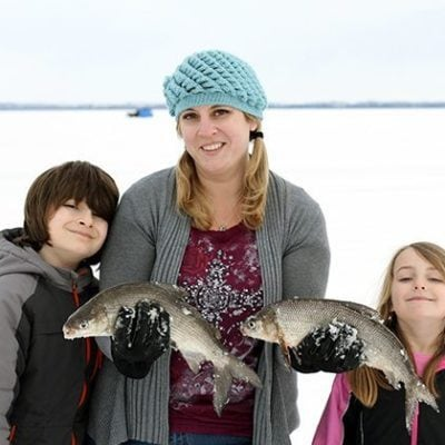 The Family That Ice Fishes Together….