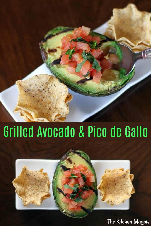 Grilled Avocado & Pico de Gallo and easy summer appetizer!