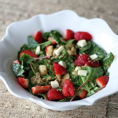 Strawberry Quinoa Salad With Brie