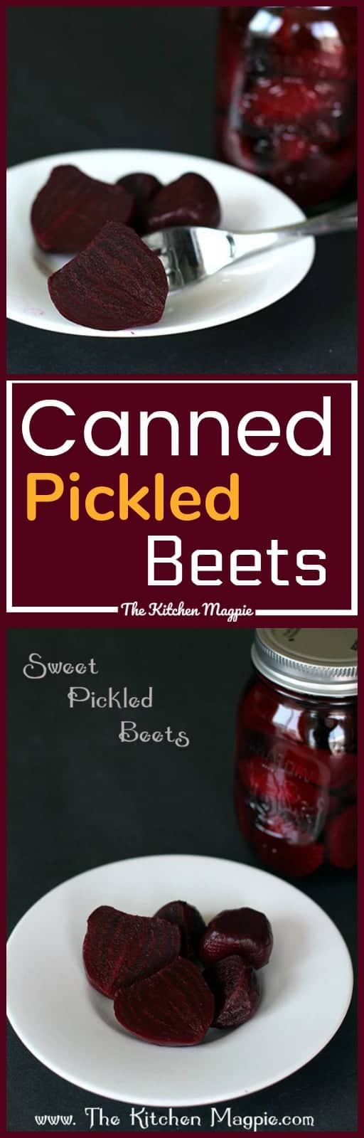 How to Make Canned Pickled Beets & Recipe! It's easier than you think to make these delicious pickled beets at home! Recipe from @kitchenmagpie. #Canning #pickles #preserving #beets #harvest #pickledbeets