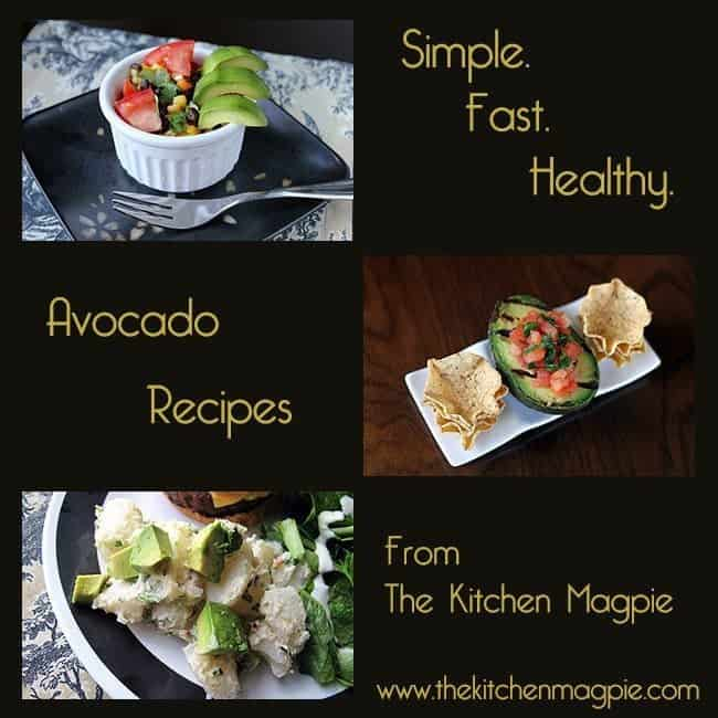 collage of avocado recipes