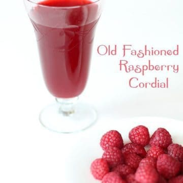 Anne of Green Gables Raspberry Cordial Recipe